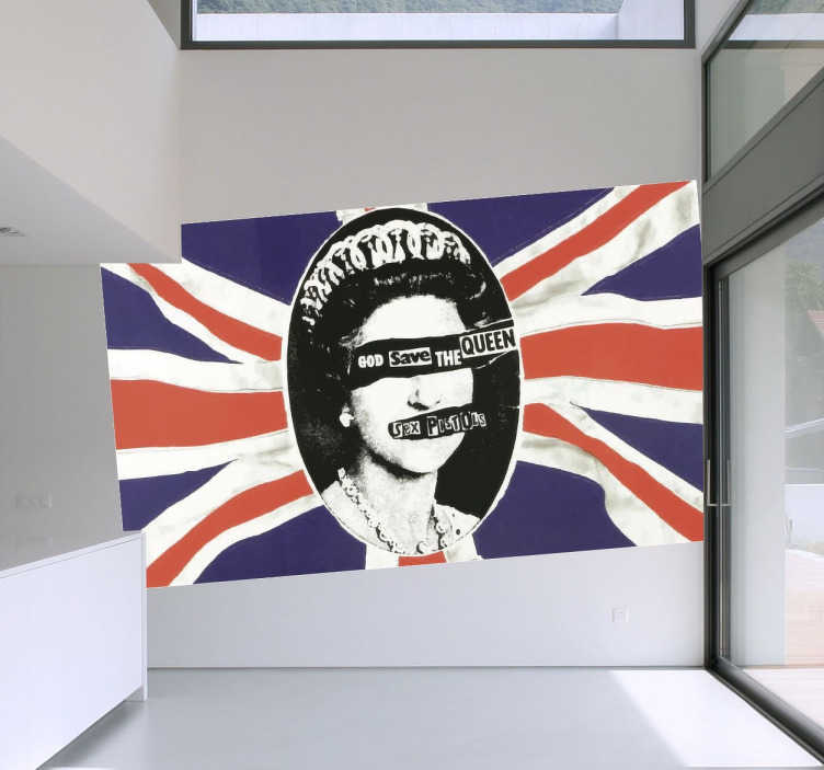 Sex Pistols God Save The Queen Wall Sticker