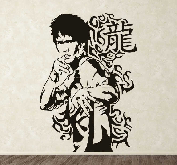 TenStickers. Bruce Lee Portrait Sticker. Are you a fan of this famous martial artists turned actor? Do you Bruce Lee and his awesome fighting skills?