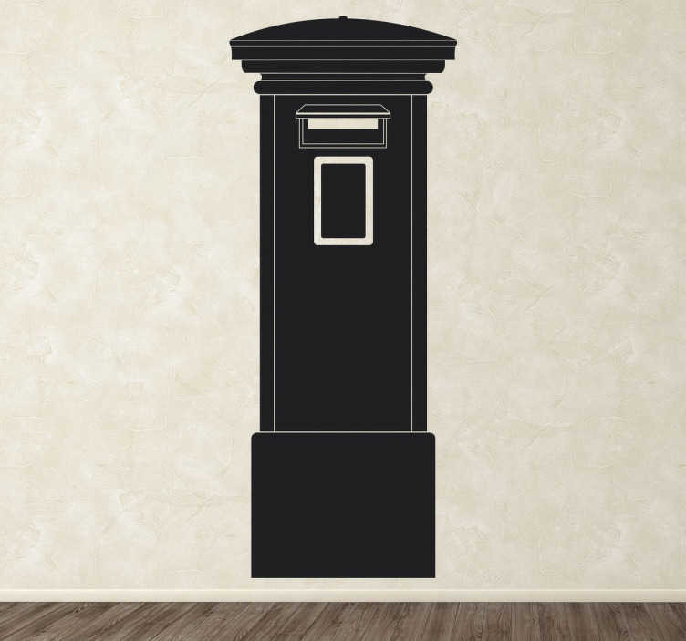 TenStickers. Post Box Wall Sticker. A simple design of a Royal Mail style post box that can be found on the streets of Britain.