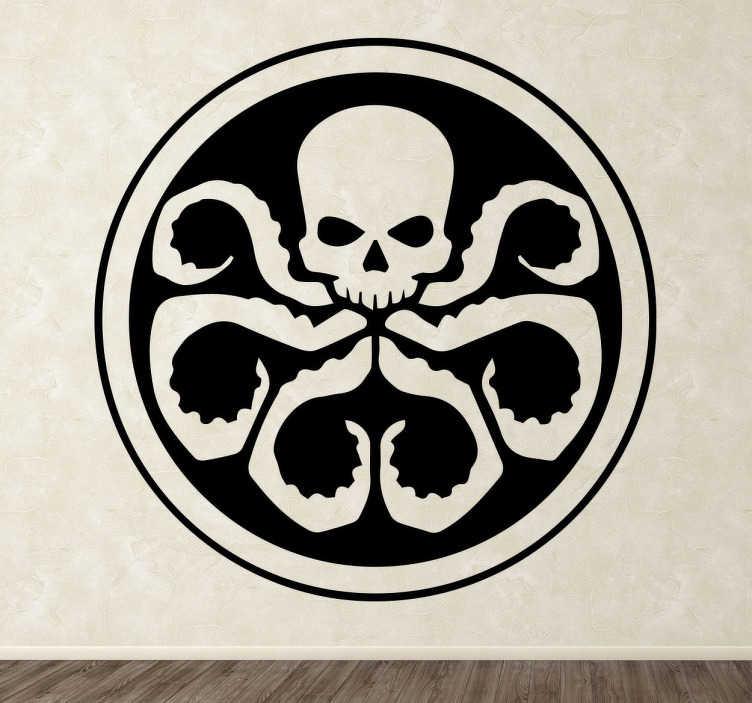 TenVinilo. Vinilo decorativo Hydra Shield. Adhesivo decorativo de Hydra. Una pegatina para los aficionados de Marvel y los superhéroes.