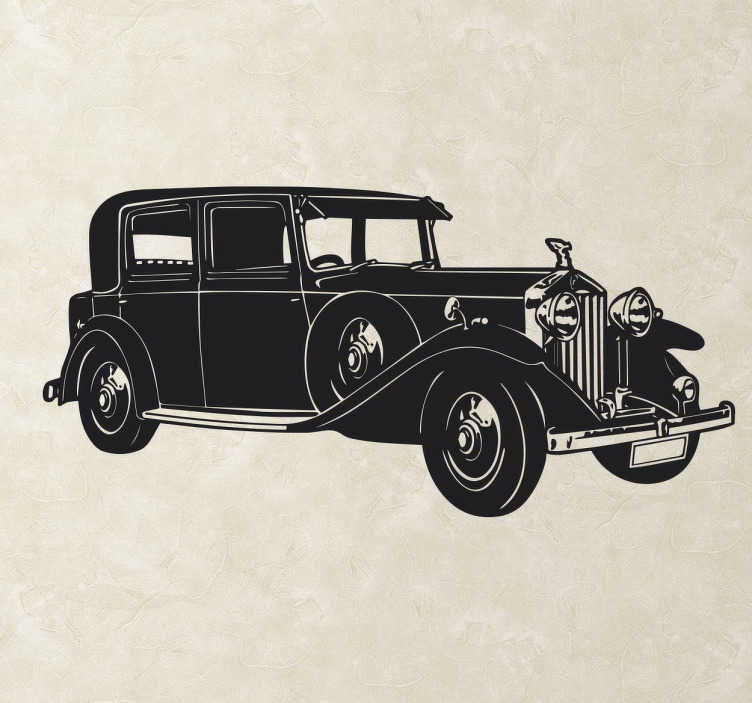 TenStickers. Rolls Royce Sticker. A sticker with a design of a beautiful and elegant Rolls Royce car. Decorate your home with classic luxury car that is made in Britain.