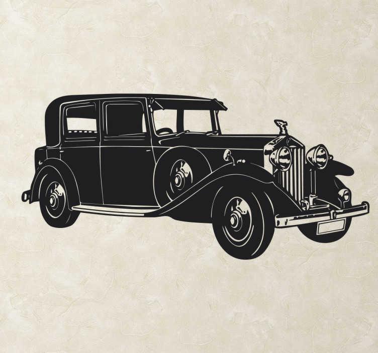 TenVinilo. Vinilo decorativo Rolls Royce. Pegatina decorativa de un estupendo Rolls Royce. Un coche clásico que decorará las paredes de tu hogar y te acercará el mundo de los vehículos clásicos a tu hogar o tu taller.