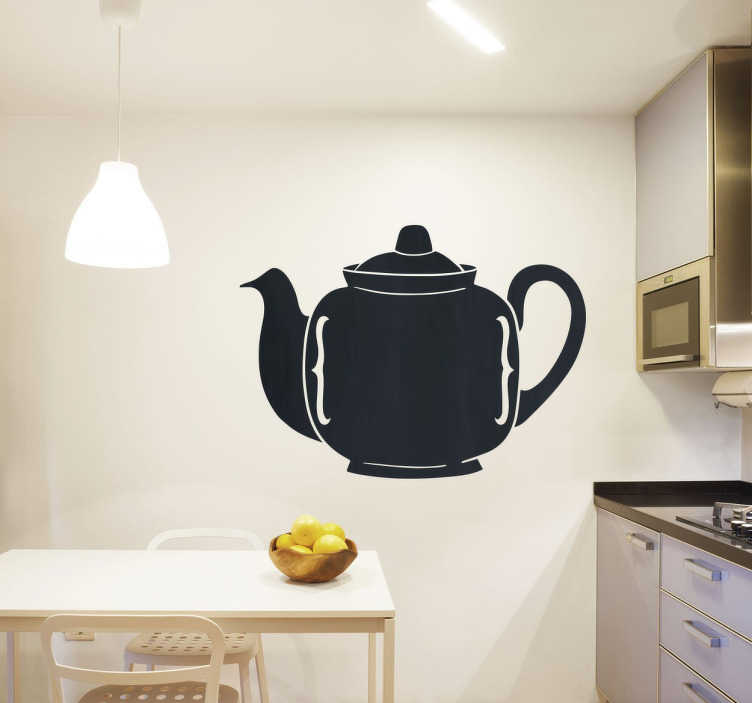 TenStickers. Teapot Silhouette Wall Sticker. A wall sticker for tea lovers everywhere. A design with the silhouette of a tea pot to decorate your home or business.