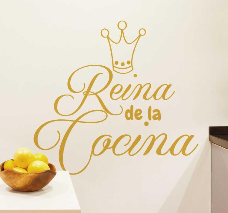 Naklejka ścienna Królowa kuchni