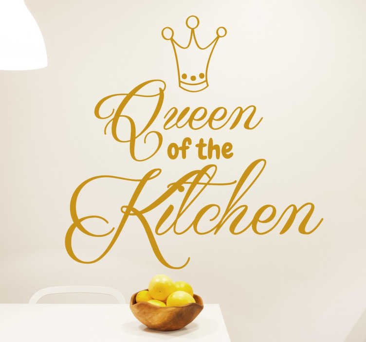 Queen of the Kitchen Muursticker