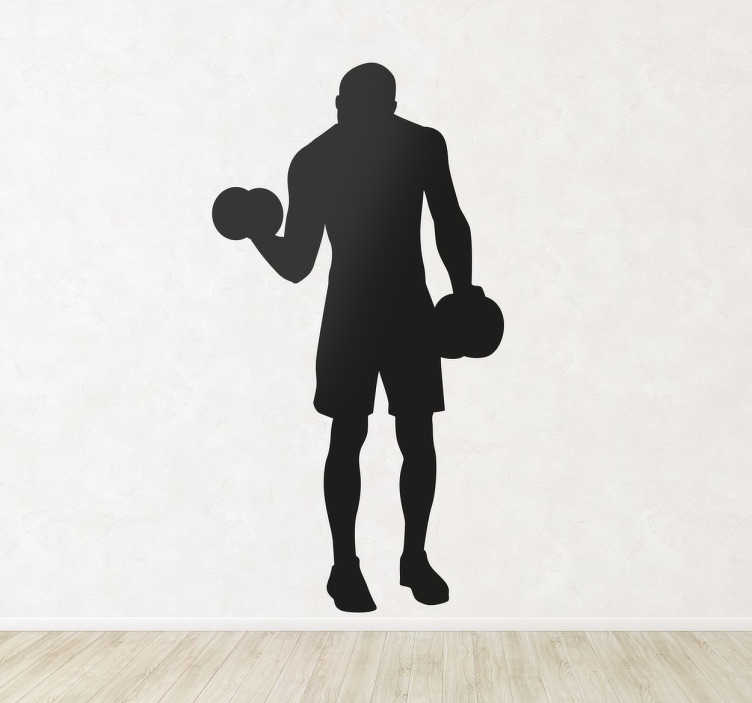TenStickers. Weight Lifting Wall Sticker. From our collection of fitness wall stickers, a great design with the silhouette of a man lifting some weights.