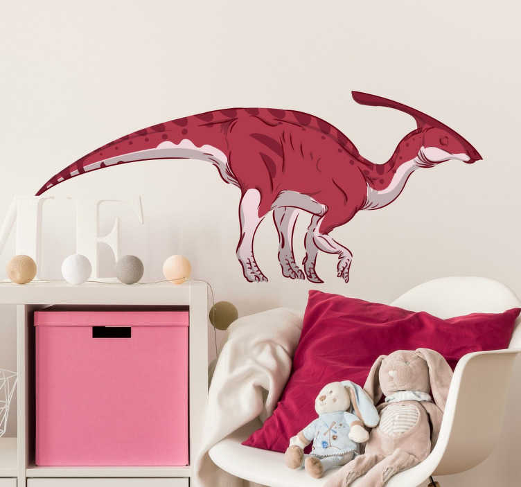 TenStickers. Parasaurolophus Dinosaur Wall Sticker. Parasaurolophus dinosaur wall sticker to decorate the walls of your home or business.