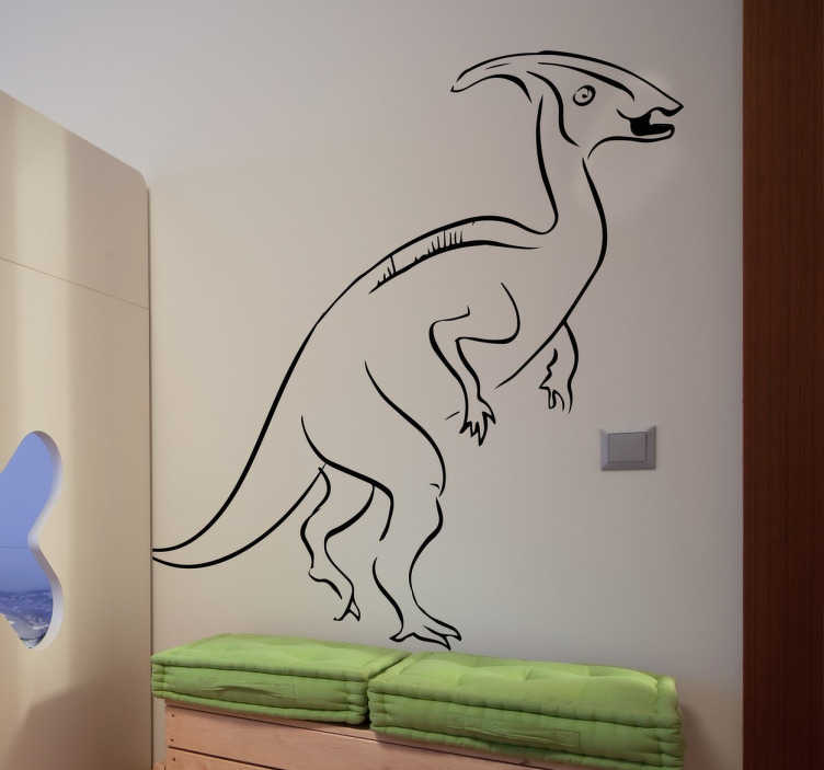 TenStickers. Muursticker. Een nieuwe muursticker van een prachtige dinosaurus genaamd de Velociraptor. Kleur en formaat aanpasbaar. +10.000 tevreden klanten.