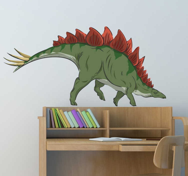 TenStickers. Stegosaurus Dinosaur Sticker. Go back in time to a prehistoric age with this sticker with a great design of a Stegosaurus, from our collection of dinosaur wall stickers.