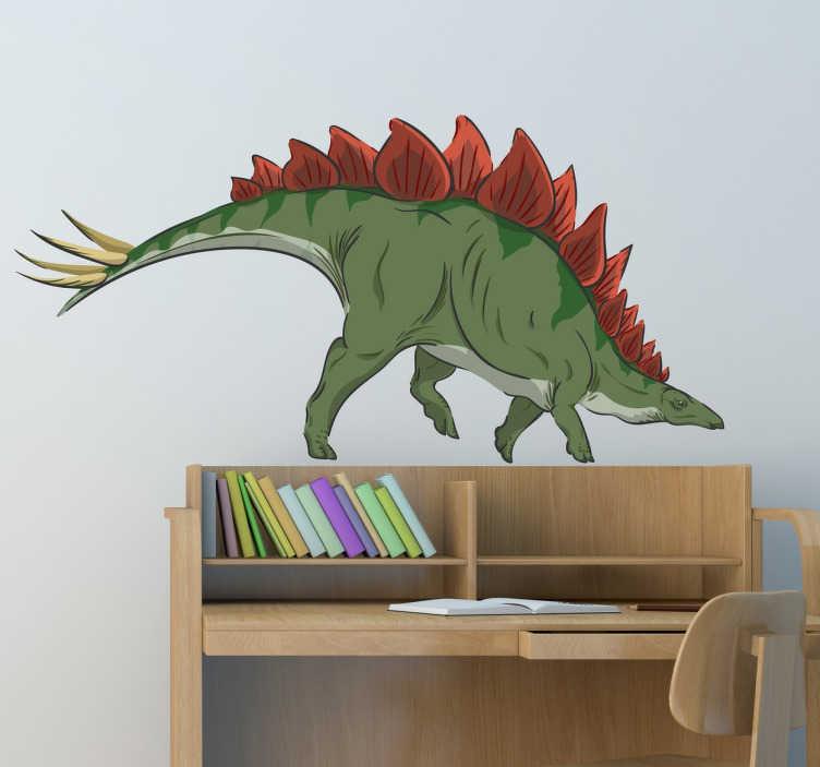 TenStickers. Wandtattoo Stegosaurus. Dekoratives Wandtattoo eines Dinos für das Zimmer Ihres Kindes. Um genau zu sein stellt das Wandtattoo einen, wie lebendig wirkenden, Stegosaurus dar.