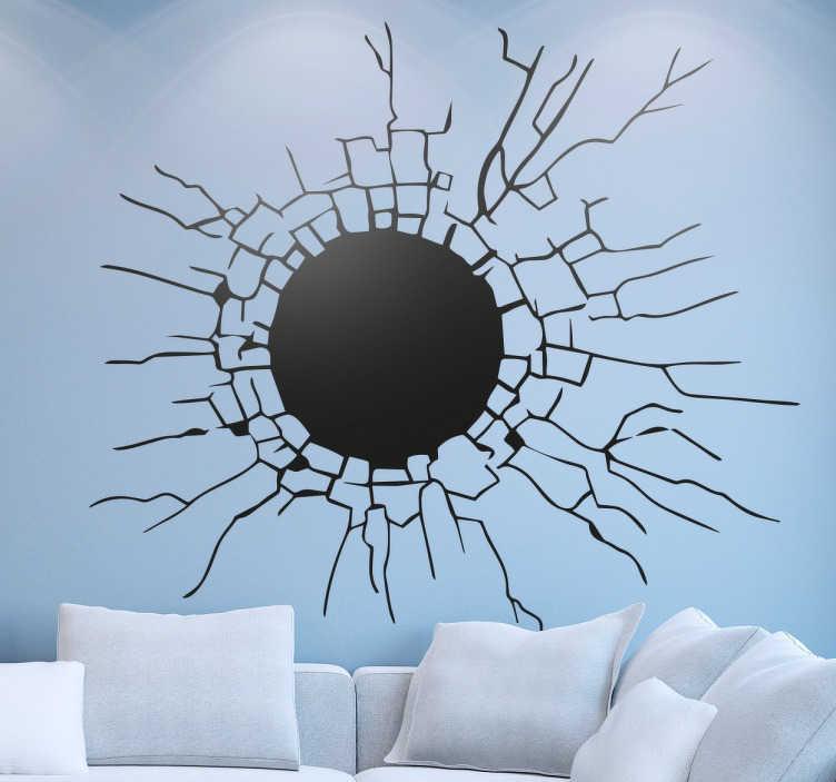 Adesivo decorativo effetto muro sfondato