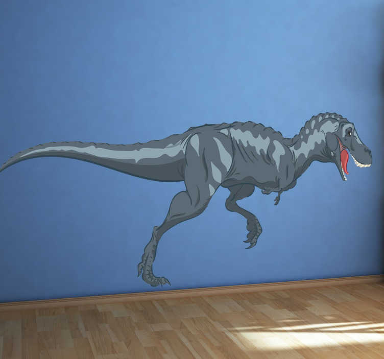 TenStickers. T-REX Dekoracja Ścienna. Król i najbardziej przerażający ze wszystkich dinozaurów ! Prezentujemy naklejkę dinozaura T-REX do dekoracji każdego pomieszczenia.