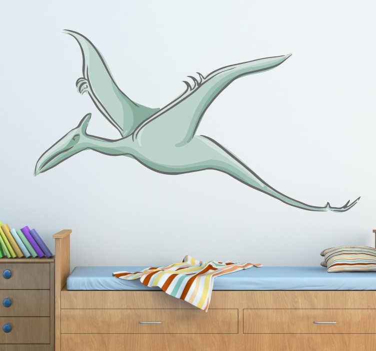 TenStickers. Autocolante infantil dinossauro voador. Autocolante decorativo com um dinossauro voador. Ideal para a decoração do quarto infantil