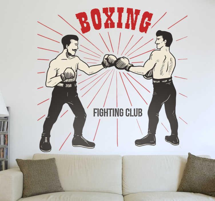 Vinilo decorativo boxeo vieja escuela