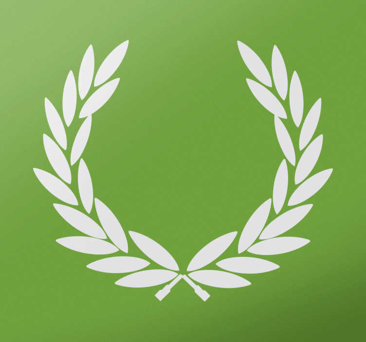 TenStickers. Victory Laurel Wreath Decorative Sticker. In Ancient Greece, wreaths were awarded to winners of athletic competitions, and in Ancient Rome to martial Victors.