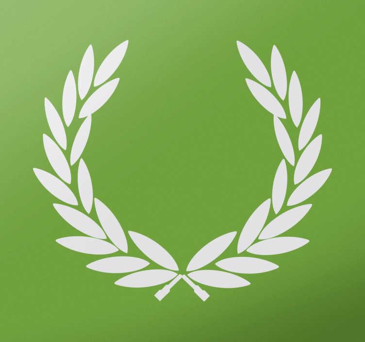 TenStickers. sticker symbole plante laurier. Un sticker représentant le symbole du laurier de la victoire, applicable sur toutes surfaces et personnalisable. Envoi Express 24/48h.
