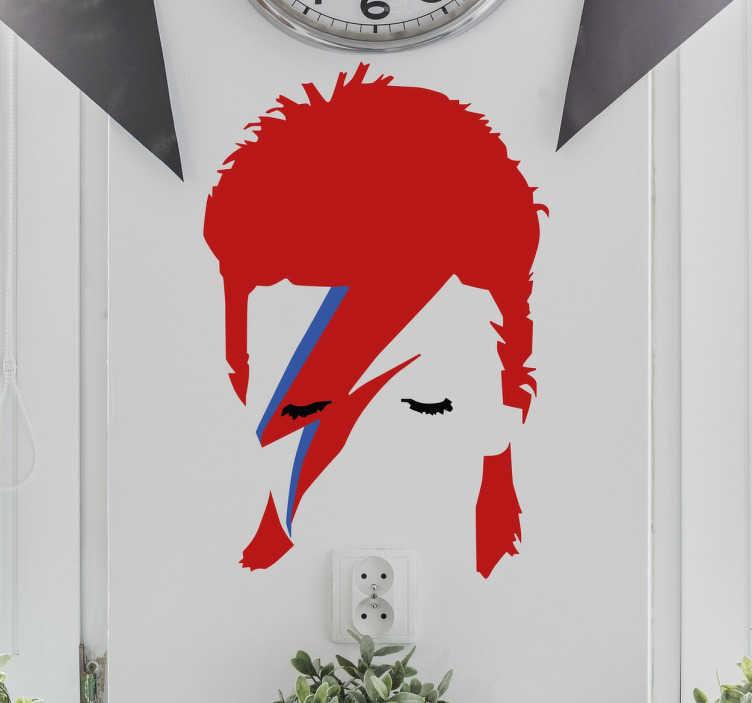 TenVinilo. Vinilo David Bowie Ziggy. Vinilos pared con un famoso retrato del cantante y compositor británico y su alter ego Ziggy Stardust.