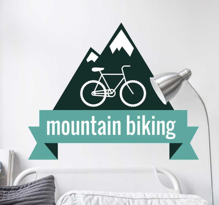 Mountain Biking Sticker