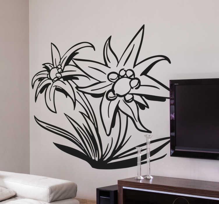 Edelweiss flower wall sticker edelweiss flower wall sticker mightylinksfo
