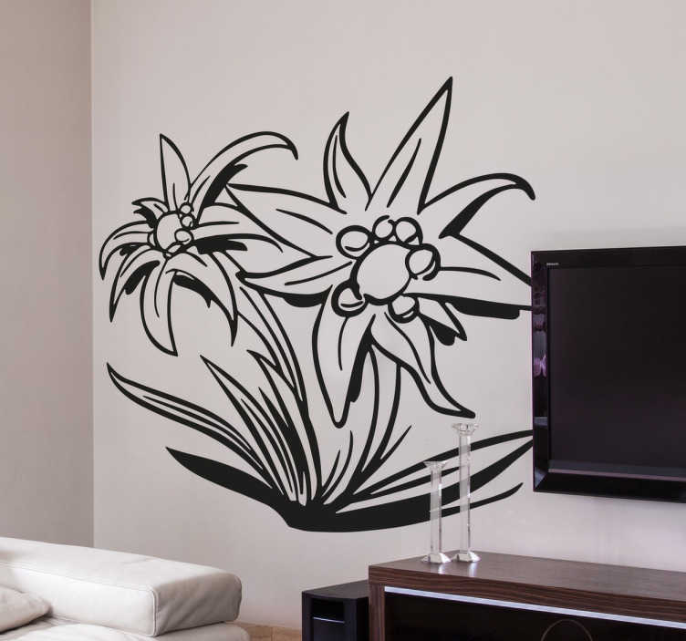 Muursticker Edelweiss Plant
