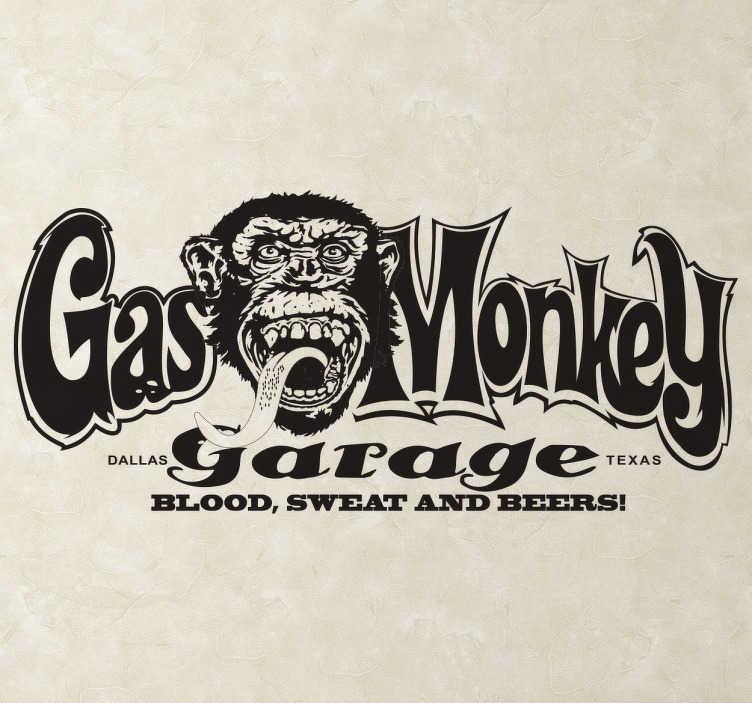Naklejka na ścianę Gas Monkey Logo