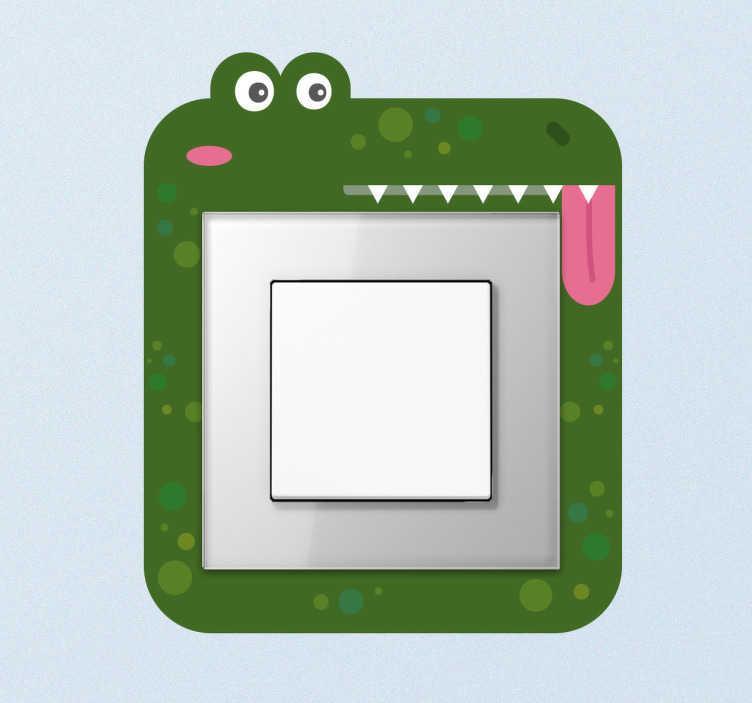 Pegatina interruptor cocodrilo