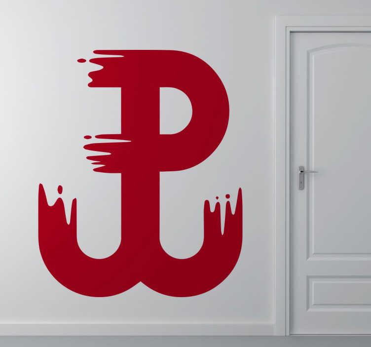 TenStickers. Polska walcząca Grafika ścienna. Wspaniała naklejka prezentująca symbol Polski walczącej.Dekoracja,która świetnie udekoruje dom każdego patrioty.