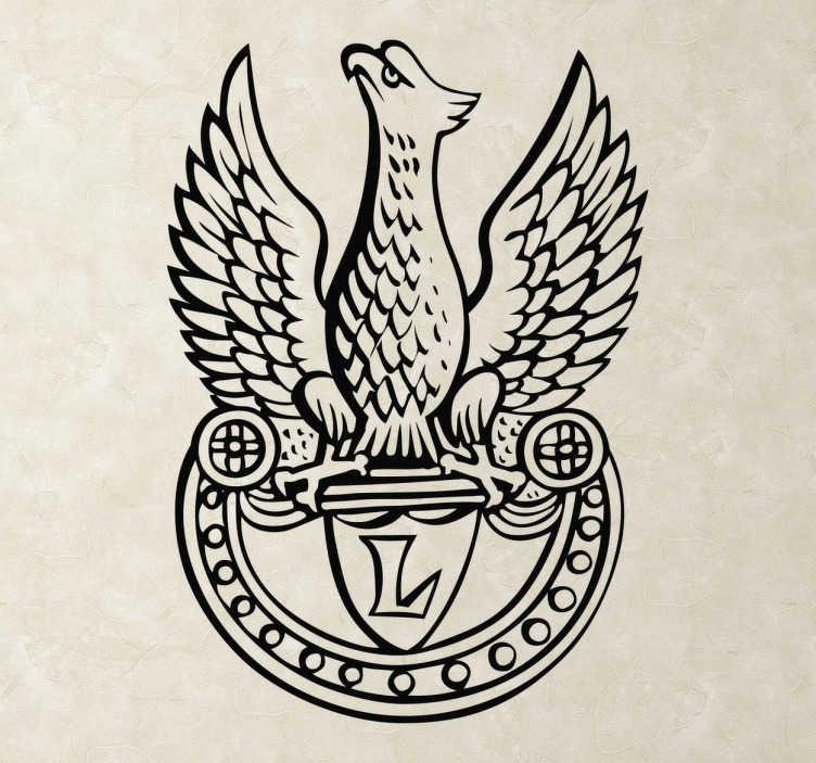 TenStickers. Naklejka ścienna Orzeł Godło Polski. Naklejka przedstawiająca sylwetkę orła,który jest symbolem Polski. Sprawdź nasze inne naklejki patriotyczne. Ponad 50 dostępnych kolorów!