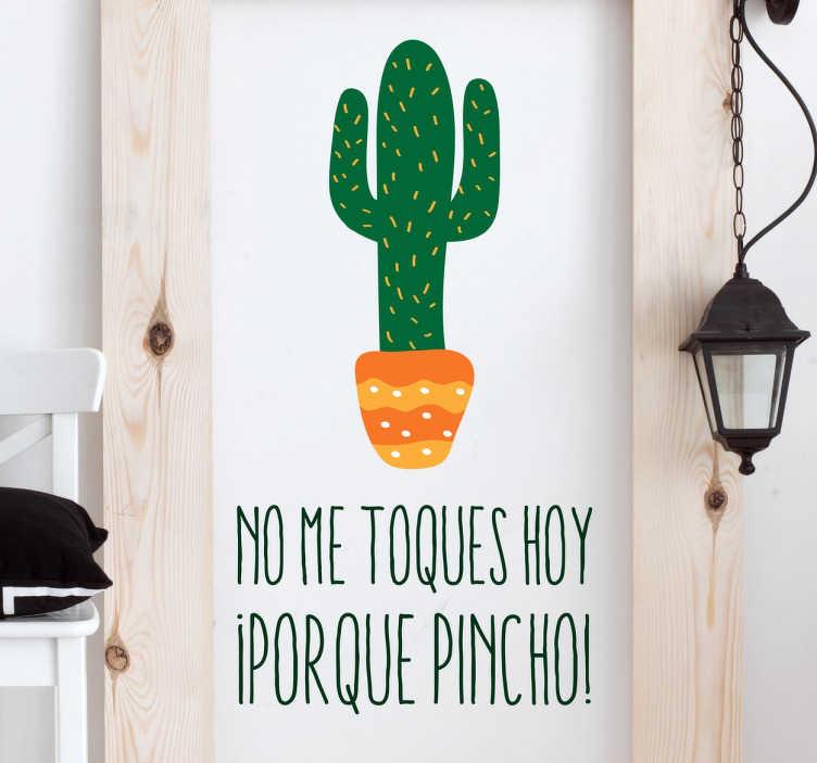 TenVinilo. Vinilo decorativo cactus pincho. Vinilos de cactus, ideales para darle un toque desenfadado y actual a diferentes estancias de tu casa.