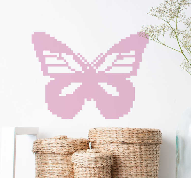 TenStickers. Pixel Butterfly Wall Sticker. From our collection of butterfly wall stickers, a creative design of a beautiful butterfly in a pixelated style.