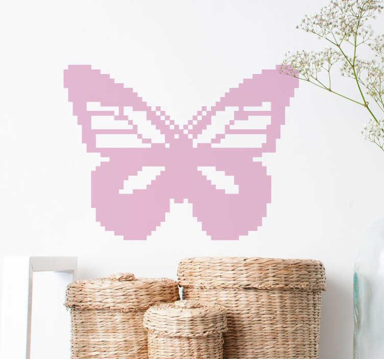 TenStickers. Sticker papillon pixel art. Sticker mural représentant un papillon avec effet pixélisé. Idéal pour la décoration de votre intérieur.