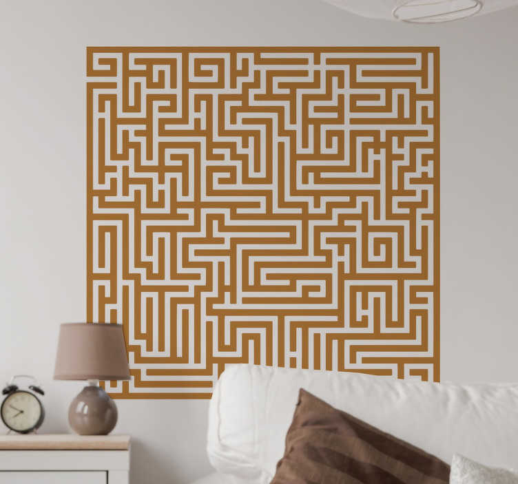 TenStickers. Maze Wall Mural. Brighten up any dull wall in any room with this original and stylish maze wall mural!