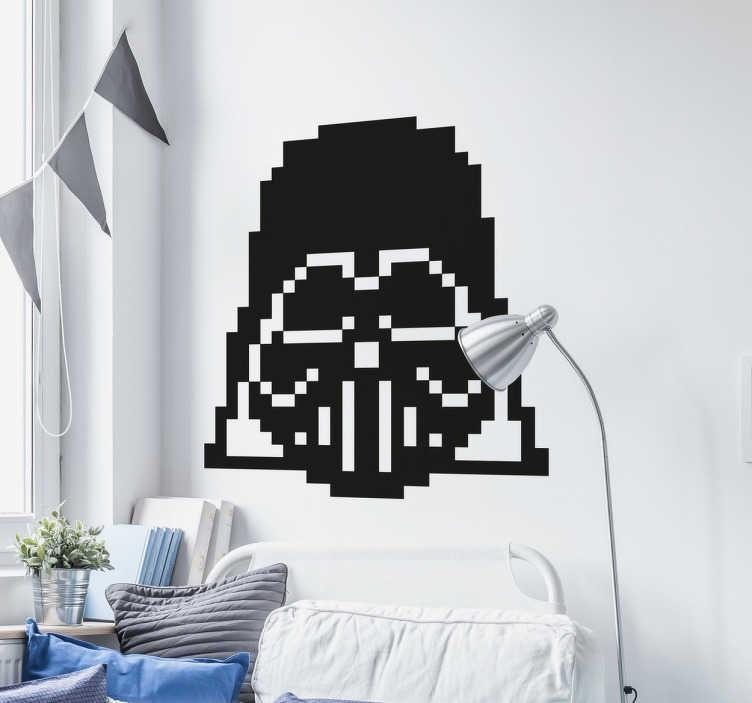 TenVinilo. Vinilos pixel art Darth Vader. Vinilos Star Wars para aficionados a esta saga galáctica ideada por George Lucas. Vinilo del alter ego malvado Anakin Skywalker.