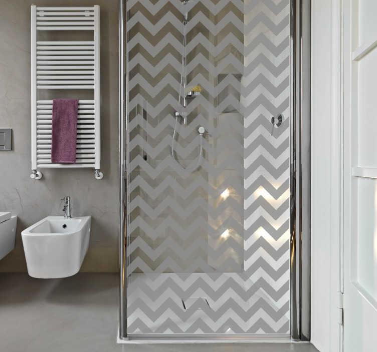 Driehoekige lijnen patroon sticker voor de douche for Mamparas decorativas para casa