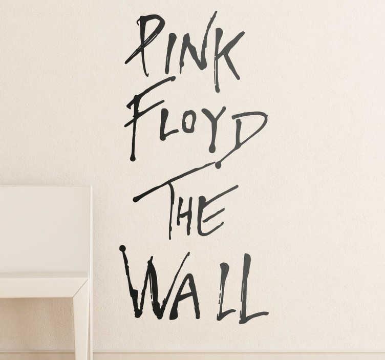 TenStickers. Wandtattoo The Wall Pink Floyd. Wandtattoo mit dem Pink Floyd – The Wall Logo; ideal für alle großen Fans! Dekorativer Schriftzug, in allen Größen erhältlich.