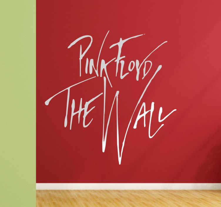 TenVinilo. Vinilo Pink Floyd texto the wall. Pegatinas rock con el logo de unos de los discos más emblemáticos de Pink Floyd, una de las bandas más influyentes de la historia.