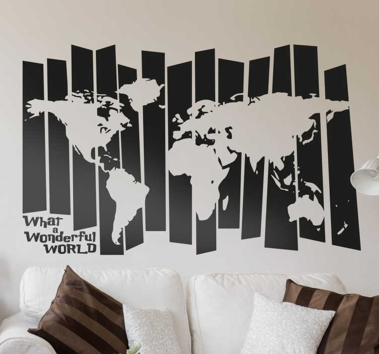 TenStickers. World map vintage wall sticker. Creative wall decal of the world map with an abstract effect. Perfect to make any room stand out while showing off your love of travelling.