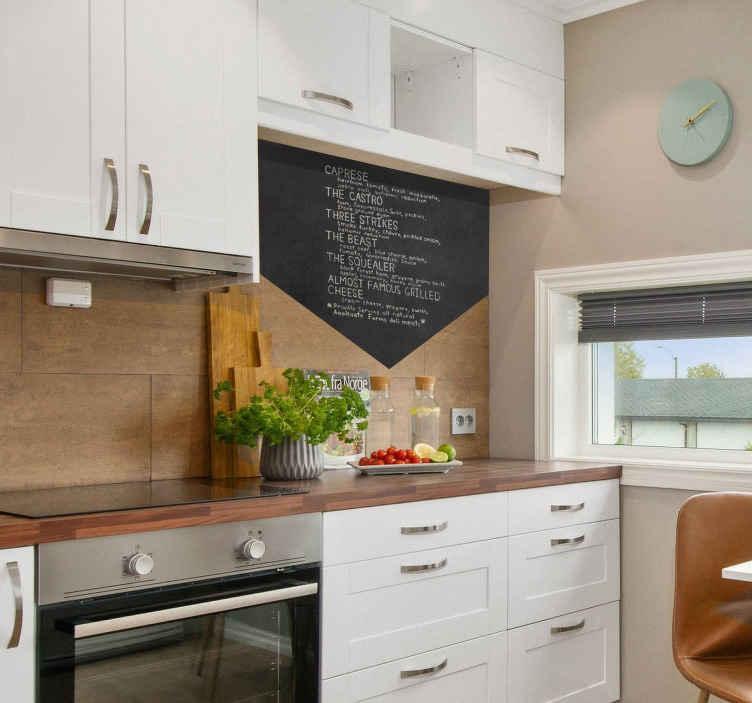 TenStickers. sticker ardoise menu. sticker ardoise craie menu personnalisable et utiles pour toutes choses