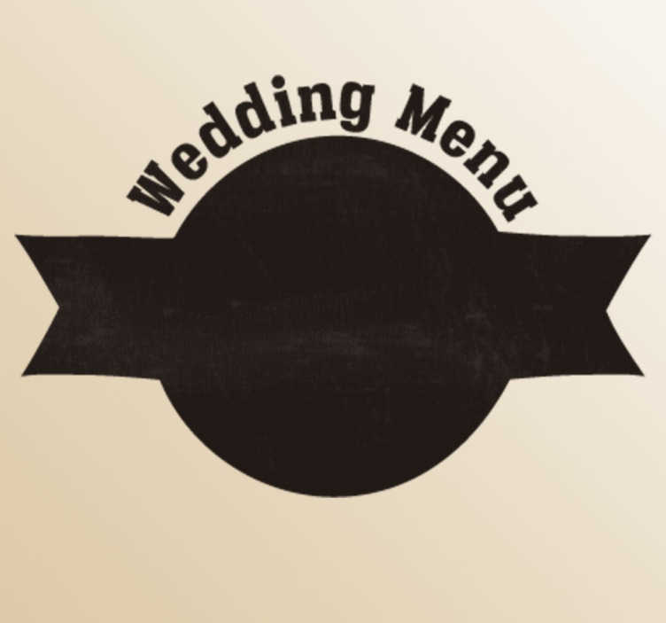 Adesivo decorativo wedding menu