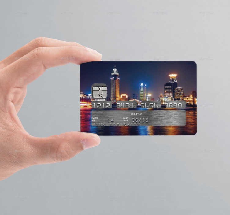Night City Credit Card Sticker