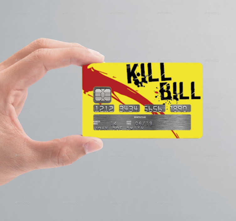 Sticker carte de crédit Kill Bill