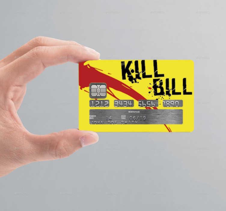 Vinilo tarjeta de crédito Kill Bill