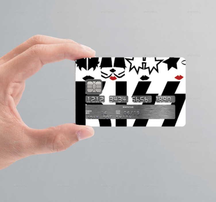 TenVinilo. Vinilo tarjeta de crédito Kiss. Pegatinas para personalizar tus tarjetas de crédito con una ilustración de la banda Kiss. Si eres todo un roquero y te encantan este vinilo es ideal.