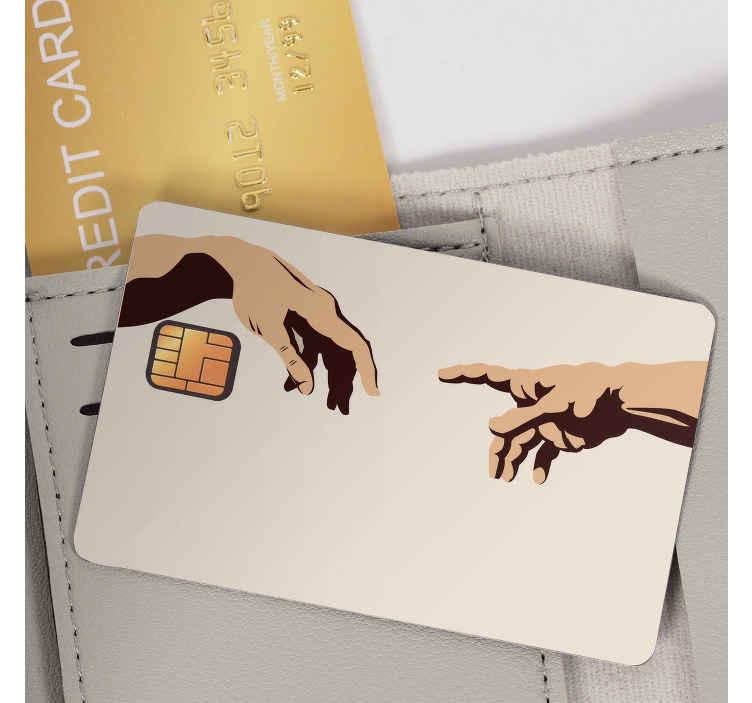 TenVinilo. Vinilo tarjeta de crédito Michelangelo. Adhesivos para personalizar tu tarjeta de crédito con un famoso dibujo renacentista de Miguel Ángel.