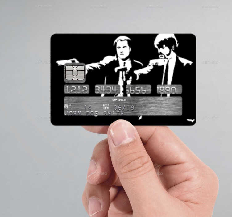 Pulp Fiction Credit Card Sticker