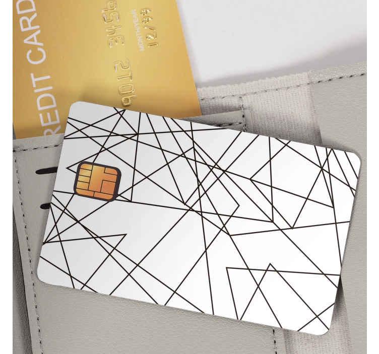 TenStickers. Naklejka na kartę w paski. Dekoracja,z którą sprawisz,że Twoja karta bankomatowa stanie się wyjątkowa