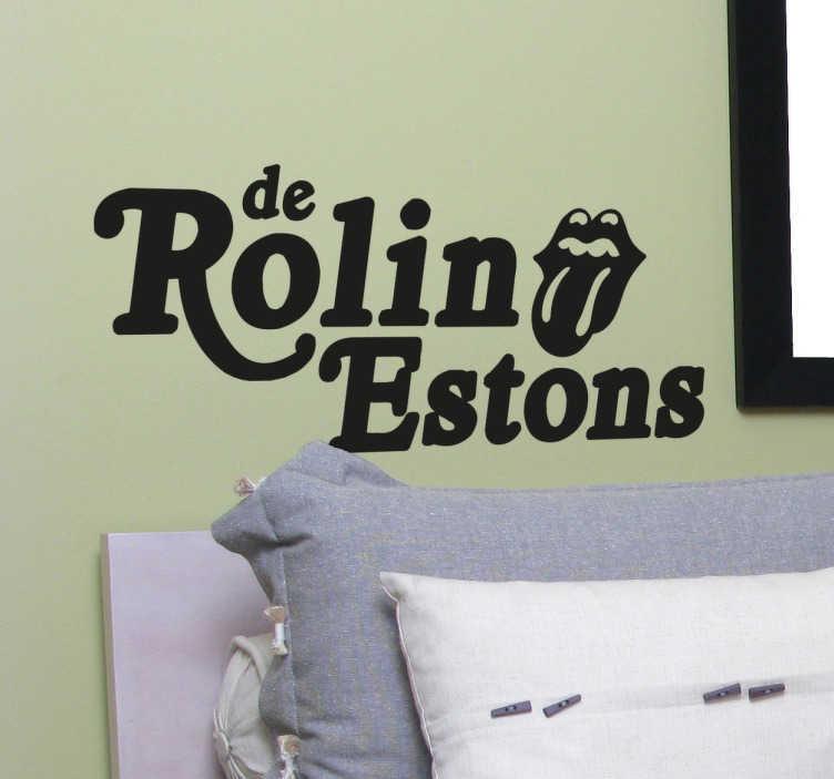 TenVinilo. Vinilo decorativo Rolling Stones en español. Vinilos de humor con una versión cañí del mejor grupo de rock de la historia.