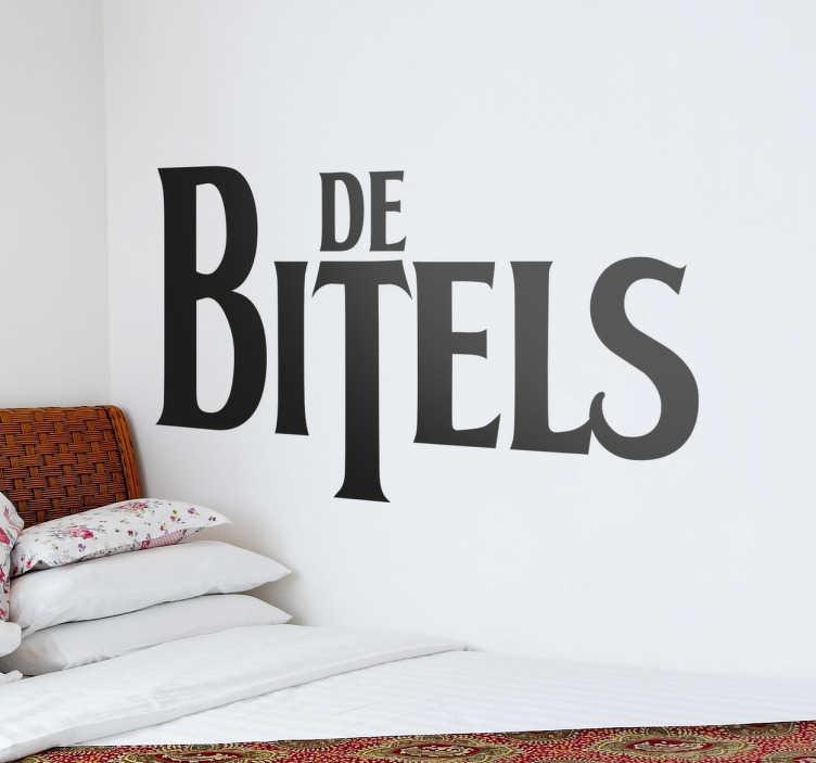 TenVinilo. Vinilo decorativo Beatles en español. Vinilos de humor con una versión cañí del logo del mejor grupo de siempre.