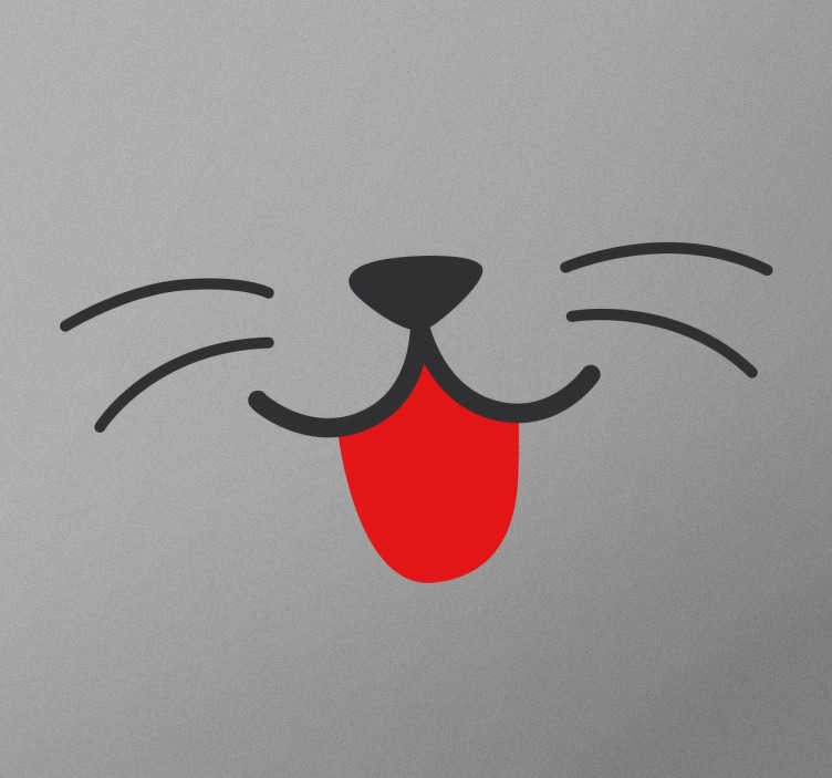 TenStickers. Cat Mouth Wall Sticker. Attention all cat lovers! Are you looking for a fun and original way to decorate your home? Well you've found it with this decorative wall sticker