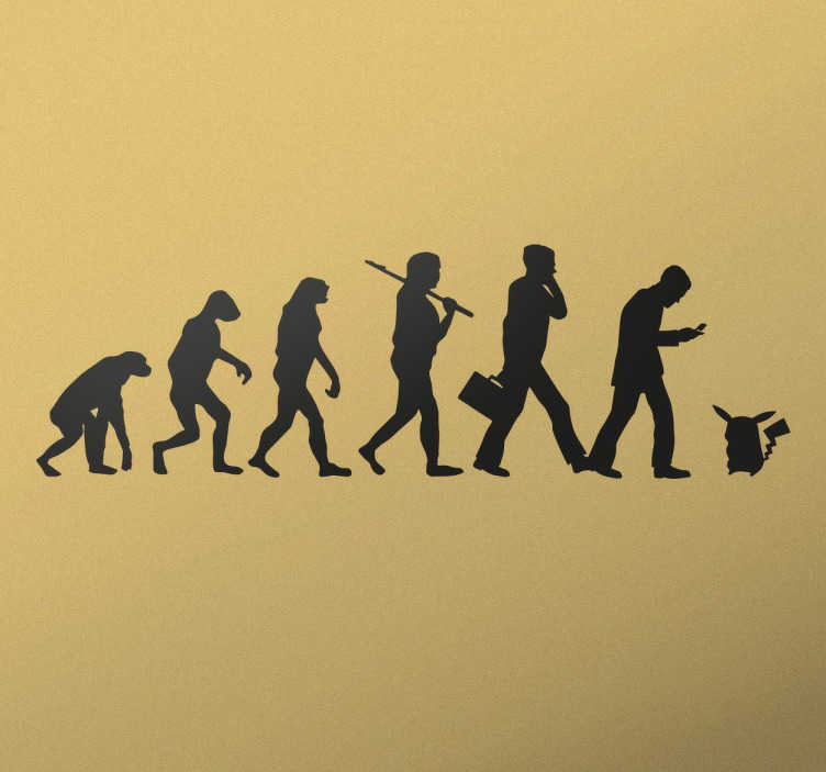 TenStickers. Pokémon Human Evolution Wall Sticker. If you're the true Pokémon master, this funny wall sticker is the perfect way to show visitors to your home!